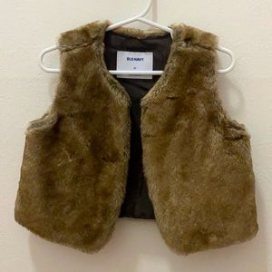 Old Navy Toddler Faux Fur Vest